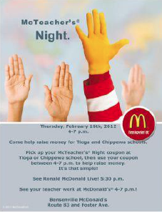 mcteachers night flyer
