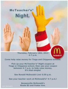 Mcdonald S Uses Mcteacher S Night Fundraiser To Infiltrate