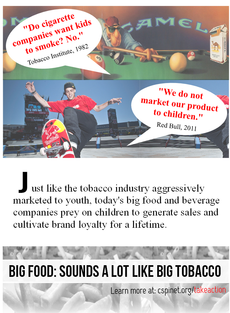 food and tobacco marketing to kids